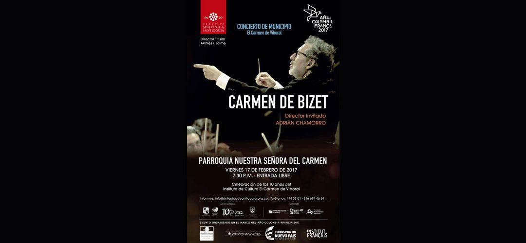 Concierto Sinfónico 2017 en El Carmen de Viboral