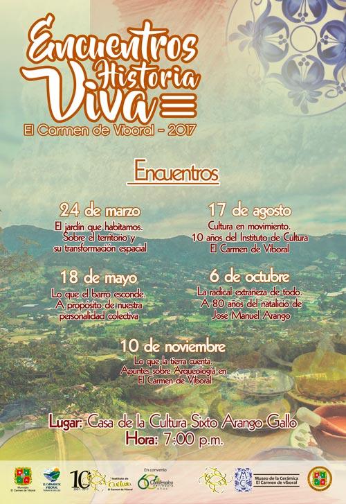 afiche de encuentros web pagina