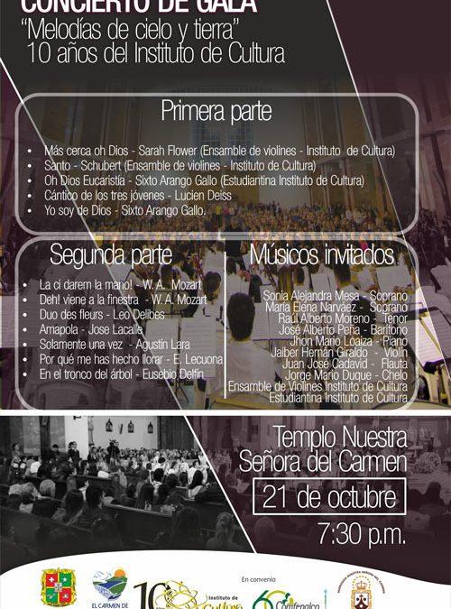 """Concierto de Gala """"Melodías de cielo y tierra"""""""