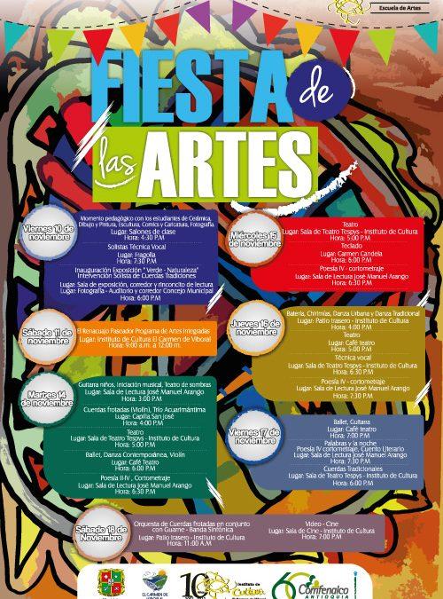 ¡Inicia de nuevo la Fiesta de las Artes para el 2do. Semestre 2017!
