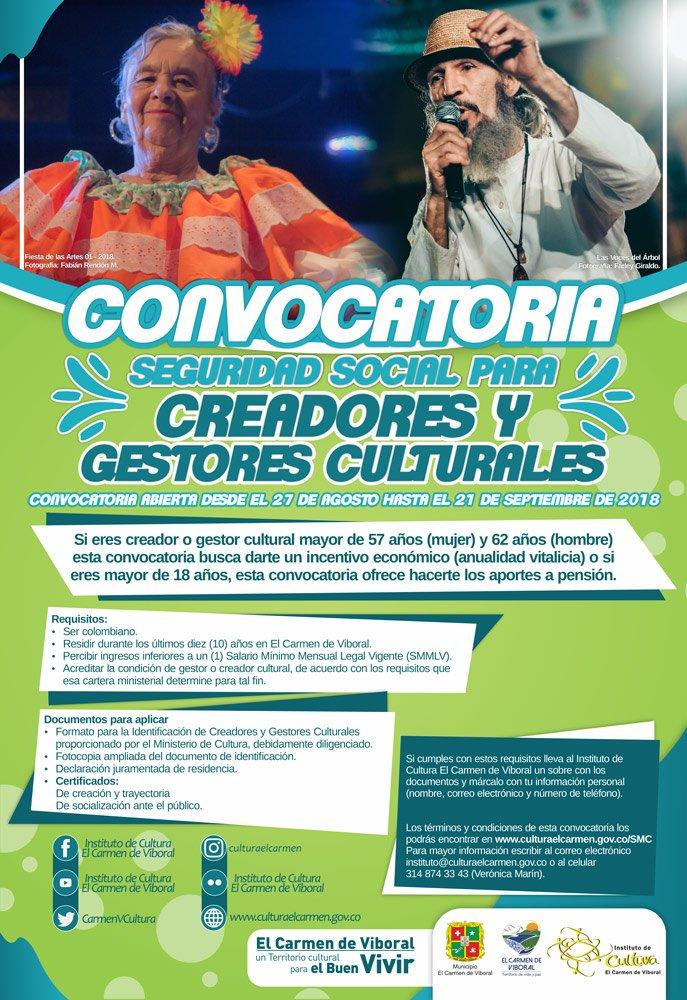 Convocatoria seguridad social de creadores y gestores culturales web3