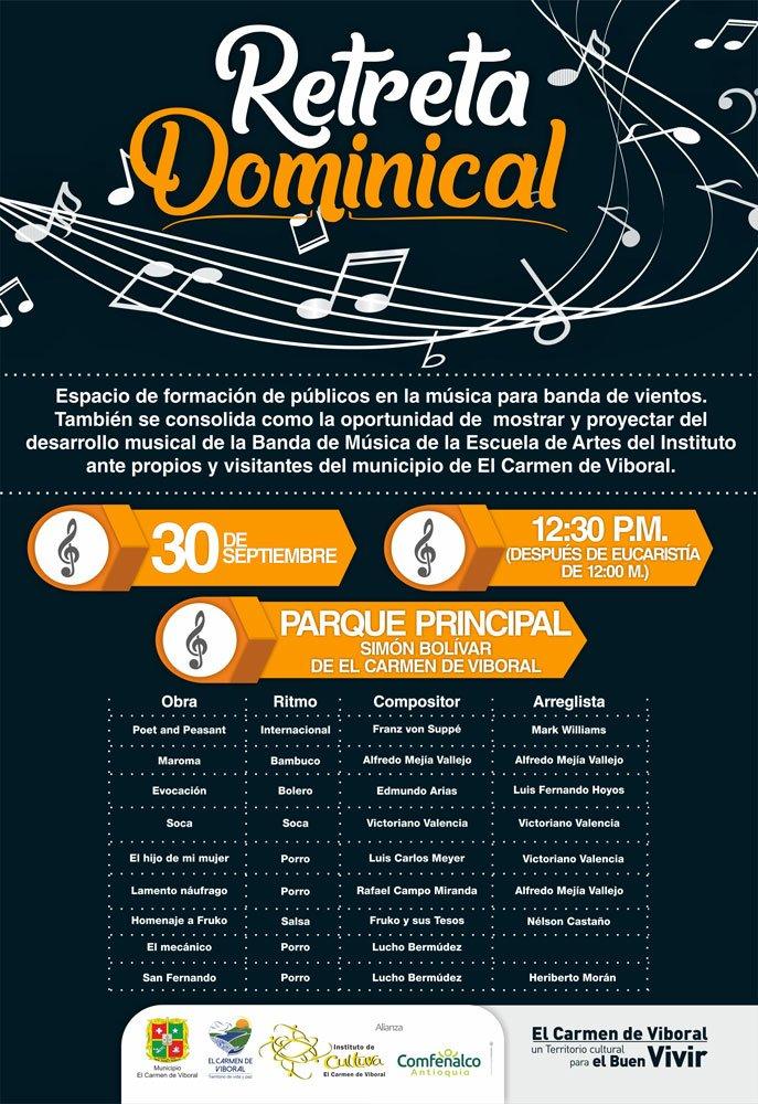 Retreta Dominical septiembre