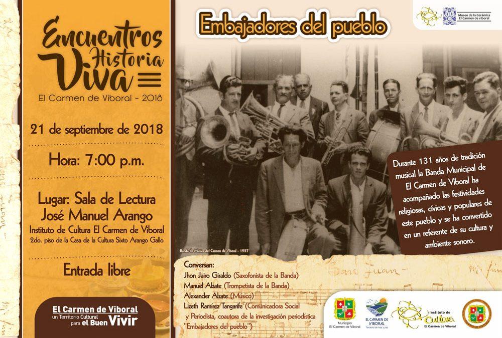 """9no. Encuentro Historia Viva """"Embajadores del pueblo"""""""