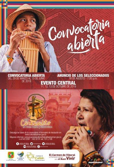 Abierta convocatoria XIX Carnavalito de Música Andina y Latinoamericana 2019