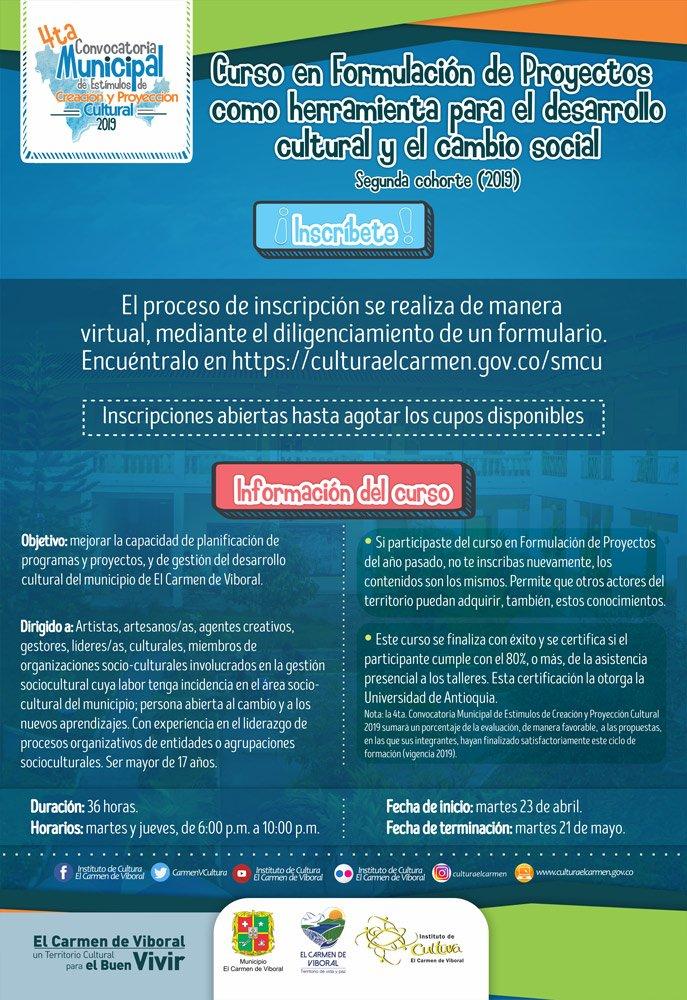 afiche lanzamiento inscripcion curso formulacion proyectos v4 web2