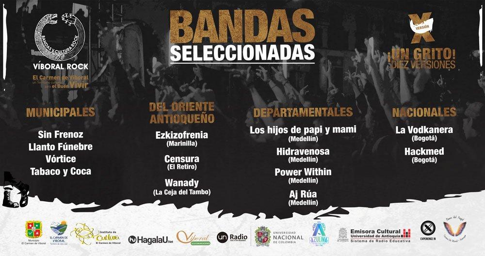 bandas seleccionadas web x viboralrock 2019