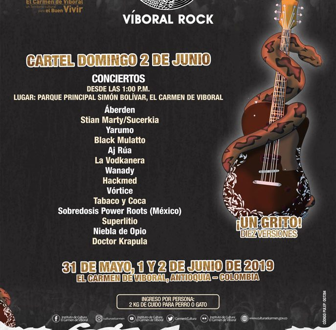 Así será el tercer día del Víboral Rock
