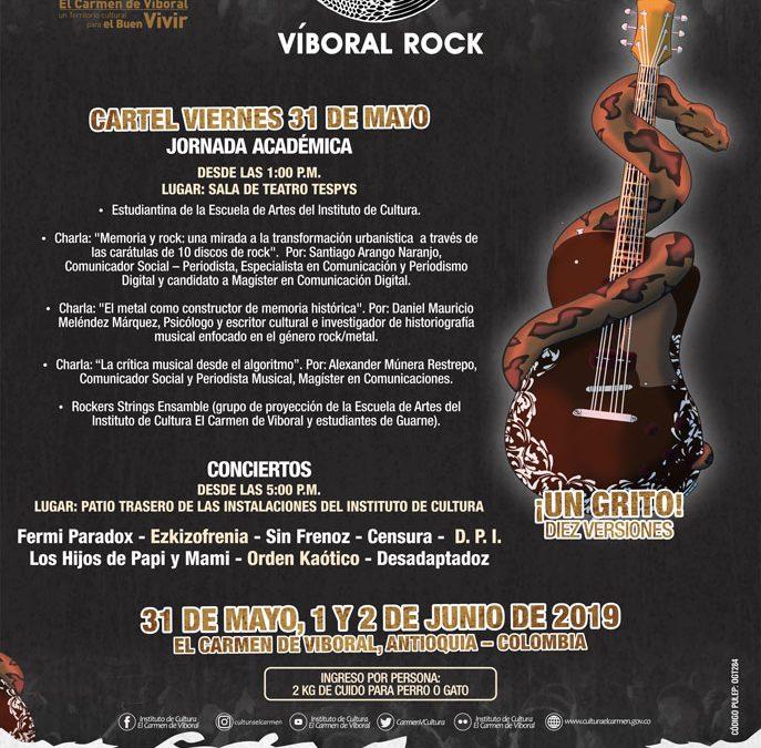 ¡Atención Rockeros! Esto sucederá el primer día del Víboral Rock