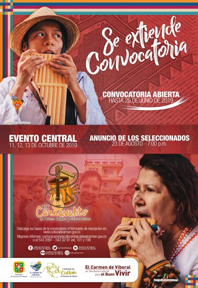 Se extiende la convocatoria XIX Carnavalito de Música Andina y Latinoamericana 2019