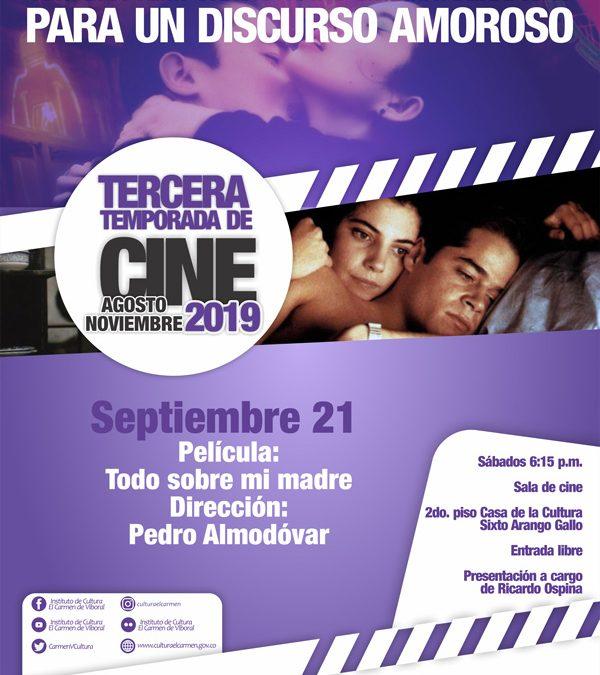 ¡No te pierdas la película de hoy en nuestro cine foro! Sábado 21 de septiembre