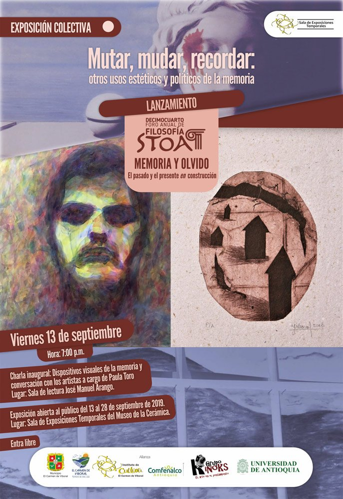 afiche lanzamiento exposicion stoa 2019