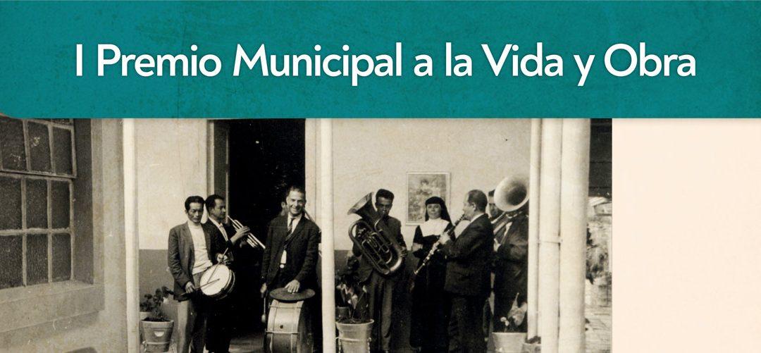 Abierto el plazo para presentación de postulaciones al I Premio Municipal a la Vida y Obra