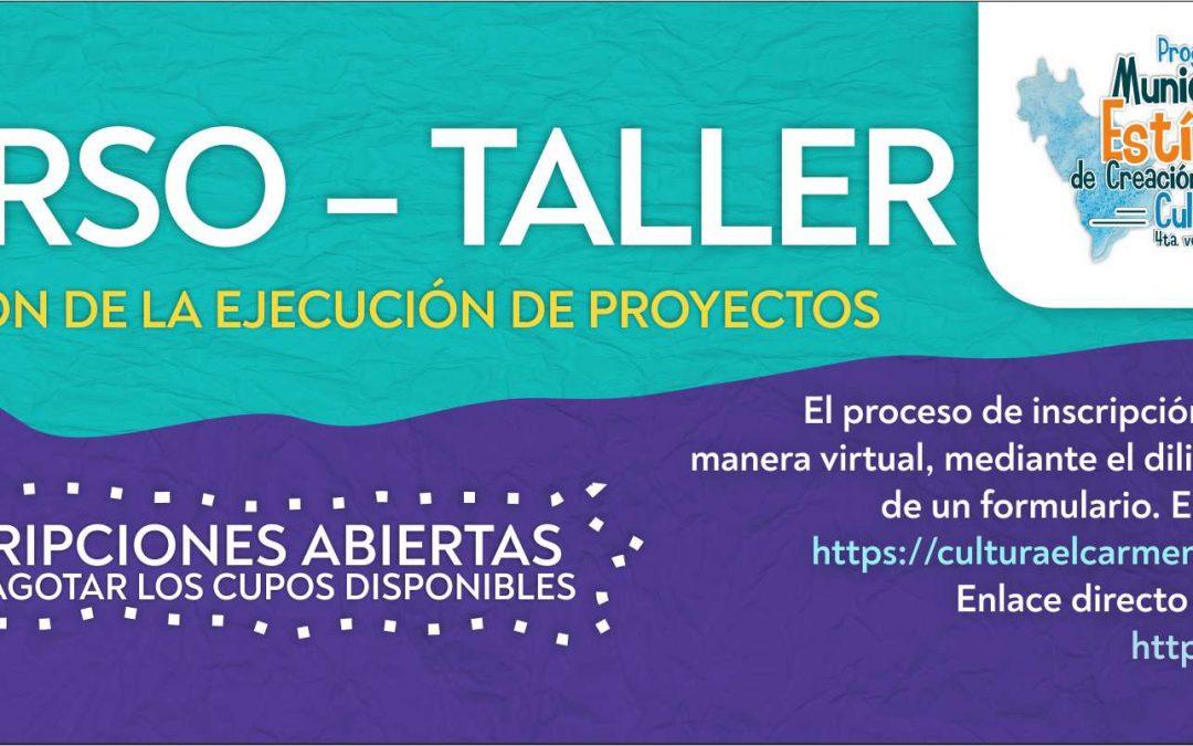 Inscripción al curso – taller Gestión de la ejecución de proyectos socio – culturales