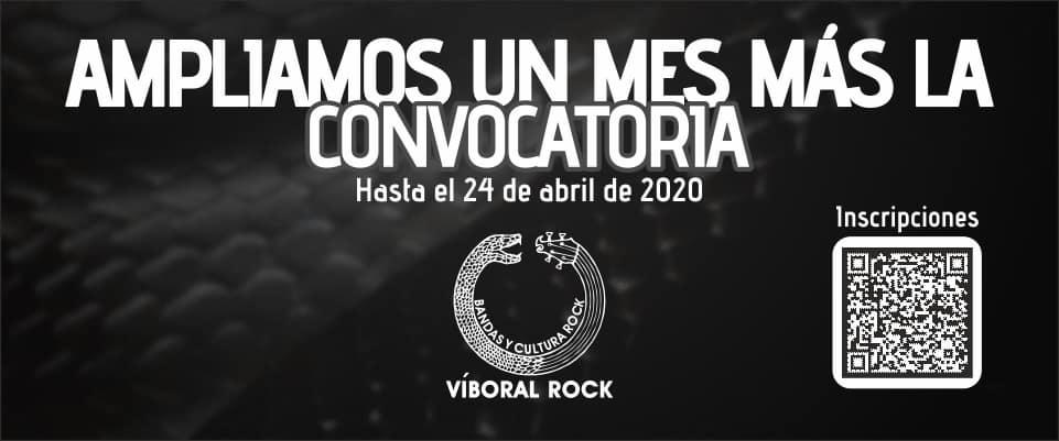 Ampliamos un mes más la convocatoria para participar del XI Víboral Rock 2020