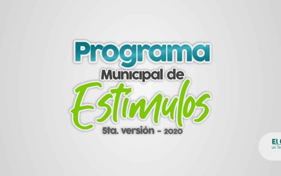 Abierto el Programa Municipal de Estímulos – 5ta. versión 2020 –