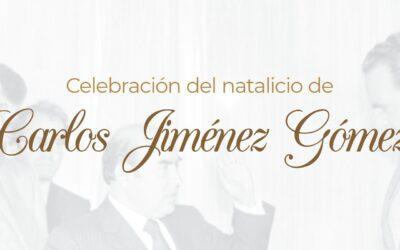 Celebración del natalicio de Carlos Jiménez Gómez