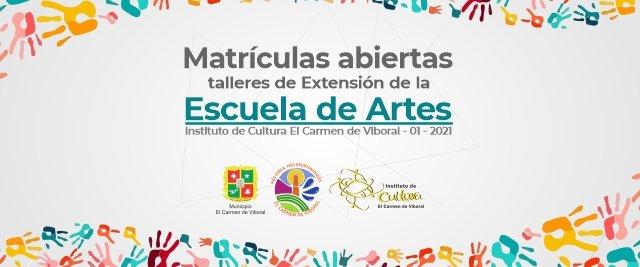 Del 25 de enero al 20 de febrero serán las matrículas para los talleres de formación de la Escuela de Artes